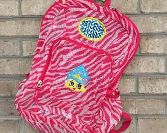 Monogrammed Backpack | Shopkins | Lipstick Backpack | Shopkins Backpack | Mesh Backpack | Monogrammed Mesh Backpack | Disney Bookbag