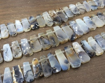 Polished Agate Slice Beads Trapezoid Agate Slab Nugget Beads Top Drilled Agate Gemstone Beads Graduated Beads Supplies 14-20*25-46mm