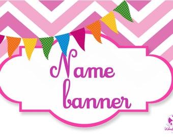 Banner, Name Banner, Banner Design, Design Name