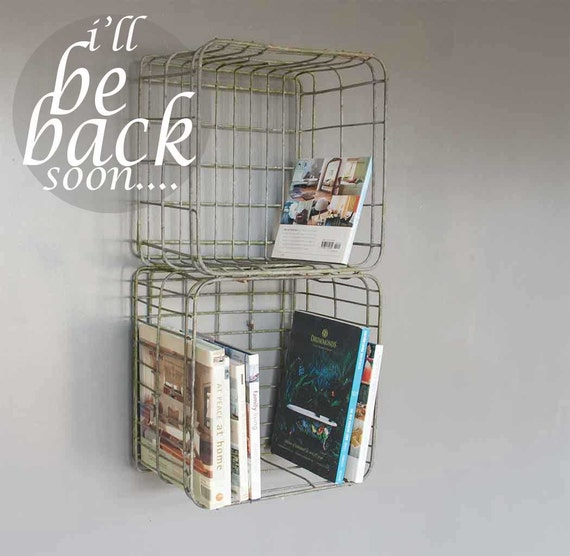 Metal Stacking Crates By Inekohome On Etsy