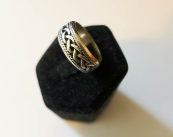 Braided Modern Sterling Silver Ring Size 5.85 Excellent Modernism