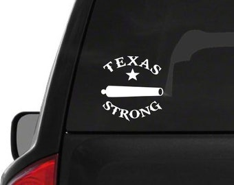 Texas Strong Cannon (T21) Dallas Support Vinyl Decal Sticker Car/Truck Laptop/Netbook