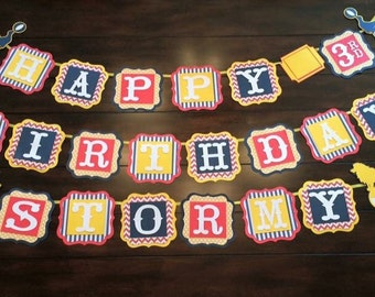Circus Birthday Banner - No Name or Age