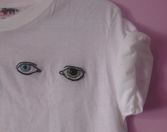 David Bowie's Eyes hand-embroidered t-shirt