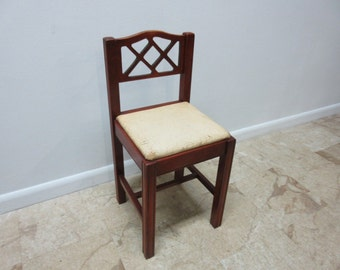 Antique Carved Petite Phone Side Chair