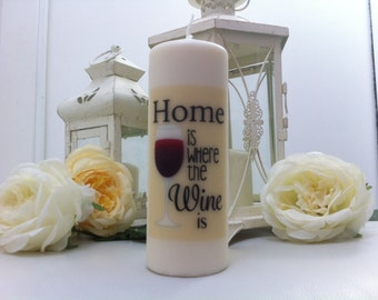 Candle personalized with text and image of your choice.