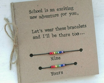Starting School Bracelet Card