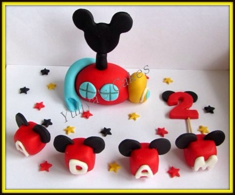 Mickey Mouse Clubhouse Edible Cake Images : Edible Mickey/Minnie Mouse clubhouse handmade cake