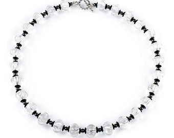 """Florence - 18"""" necklace of Rock Crystal"""