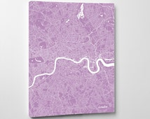 London Street Map Print Map of London City Street Map England Poster Wall Art 7104P