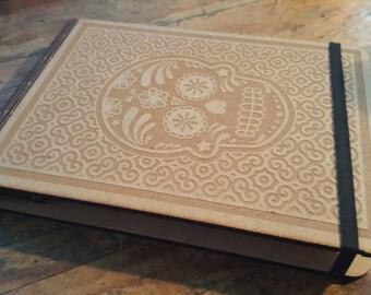Sugarskull Wooden Notepad