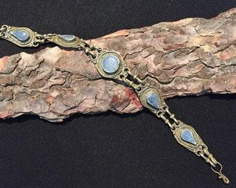 Vintage Lapis Bracelet-Kochi  Bangle-Lapis Lazuli  Stone Bracelet-Antique Ethnic Middle Eastern-Bracelet  Bracelet