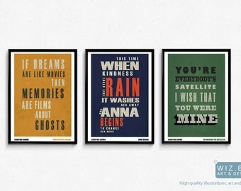 Counting Crows Typographic Lyric Poster - Choice of Lyrics - High Quality Prints