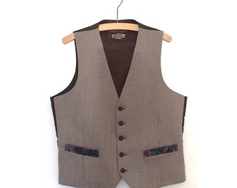 Tailored Vintage Grey Fitted Smart Waistcoat