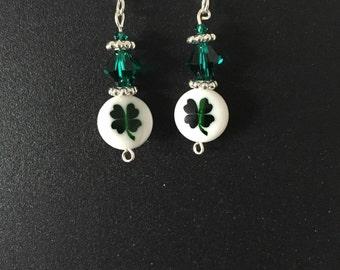 St. Patrick's day (4 leaf clover) earrings