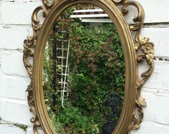 gold vintage mirror antique style mirror golden mirror ornate mirror