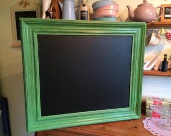 Green chalkboard distressed green chalkboard bintagr chalkboard shabby chic menu