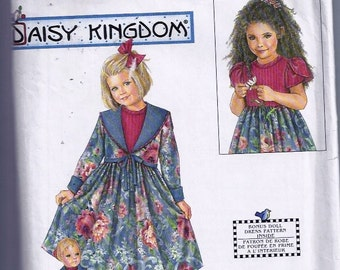 Girls' & Doll Dress and Jacket  Pattern- Patron robe et veste pour poupée de 43 cm - Simplicity no 7867