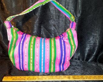 Guatemalan fabric hobo bag
