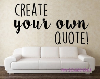 Customize Wall Decal Custom Wall Decals Create Your Own - Vinyl stickers design your own