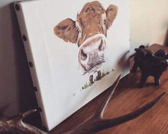 Cow Portrait on Canvas