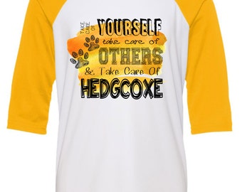 Take Care of Hedgcoxe Raglan Tee