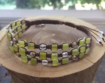 Jade Macrame Bracelet - Adjustable Bracelet - Jade Bracelet - Shamballa Bracelet - Jade Jewelry - Macrame Jewelry
