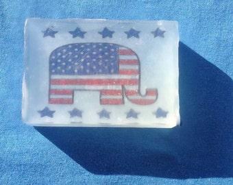 Handcrafted Goats Milk & Glycerin Soap Republicans 4 Ounces