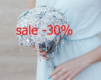 crystal bouquet\Brooch Bouquet\Jeweled bouquet\silver Brooch Bouquet