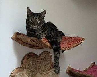 "18 1/2"" Curvy Cat Perch/"