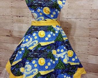 Starry Night Lolita Sweetheart Apron