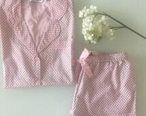 Bridesmaids Pink Monogrammed Pajama or Shorts Set
