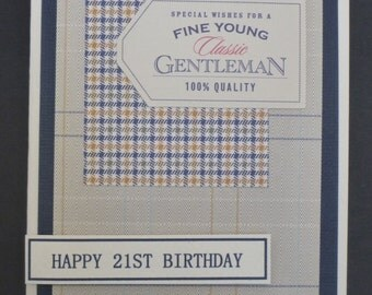 Classic Masculine 21st Birthday Card 1501