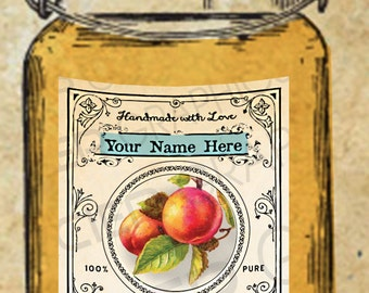 Editable Peaches Label Peaches Jam Label Peach Canning Tags EDITABLE Digital Download Canning Labels Download Instant Download DIY Gift Tag
