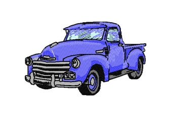 1952 Chevy Pickup Embroidery Design 4x4 hoop