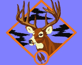 Whitetail Buck Embroidery Design