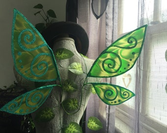Green Training Wings with Green Swirls