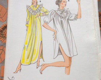 Kwik Sew 1203 Nightgown Lingerie Nightdress  Sewing Pattern Size XS S M L Uncut New FF