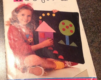 Butterick 3608 394  Colorforms Sewing Pattern Felt Game Design Board Geometric New Uncut FF