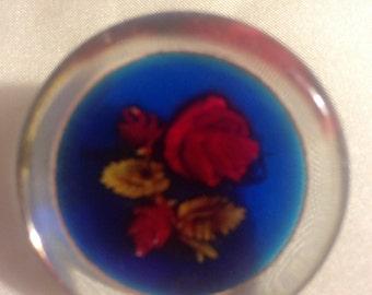 Lucite Floral Brooch