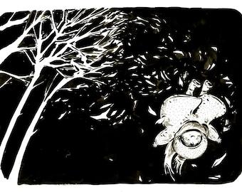 "Original drawing ""Wind"""
