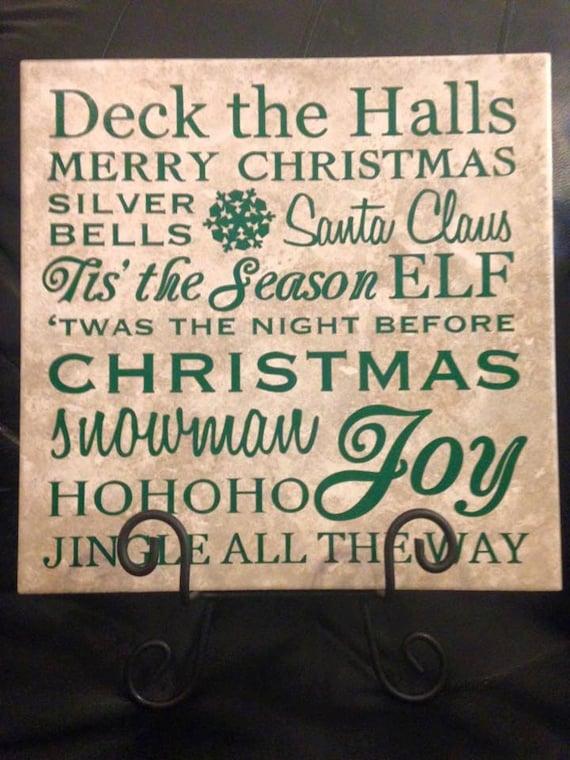 Christmas Tile Decor