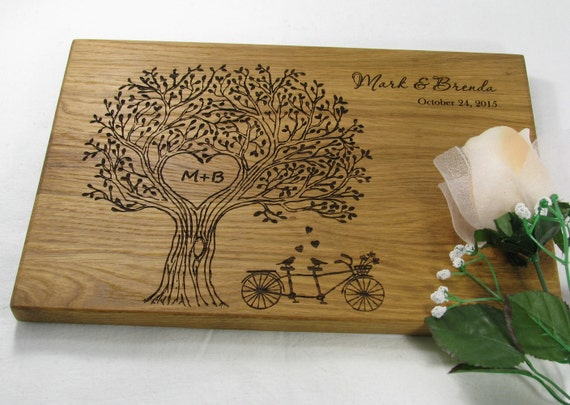 Family Tree Wedding Gift: Personalized Cutting Board Wedding Gift Cutting By VnVbroWood