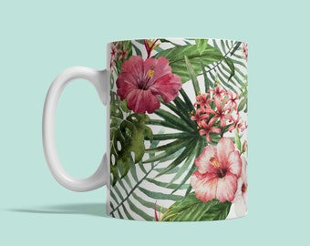 Ceramic mug Exotic Flowers