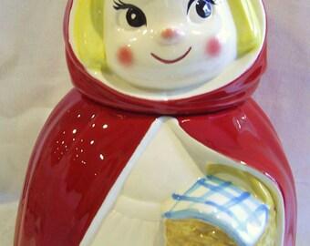 Rare Vintage METLOX Poppytrail Little Red Riding Hood COOKIE JAR