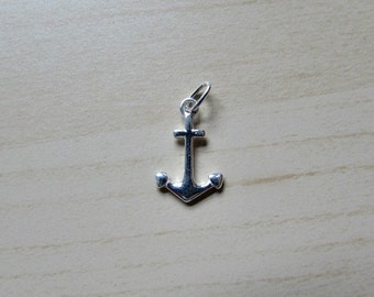 Sterling Silver (925) Plain Anchor Charm
