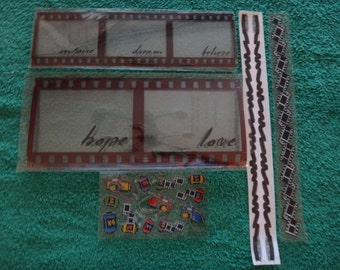 Free Shipping!  Photography Frames, Stickers, Borders -Creative Memories - Cameras, Film Strip, Movie Reels - Scrapbook, Cards -20 Ct-SNSCC1