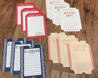 Scrapbook Travel Theme Journaling Cards