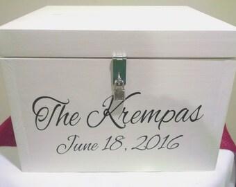 Personalized Rustic Wedding Card Box,Wedding Gift Card Box, Graduation Gift Card Box, Wedding Card Holder, Wooden Wedding Card Box,