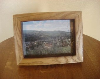 "Rustic Wood Wine Barrel Stave 5""X7"" Picture Frame"